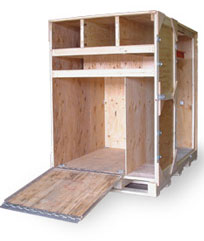 Crates built for Trade show