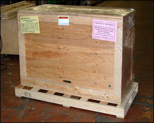Wooden Shipping Crate on pallet