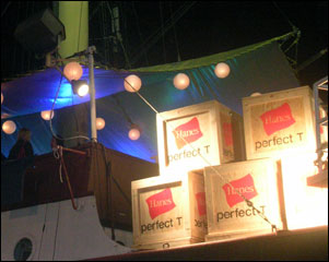 Crates used for commercial event