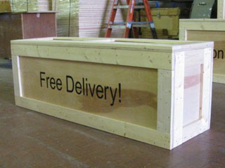 Free Delivery display crate