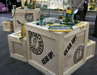 Display Crates at trade show