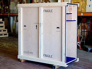 Fine Art Crate with front panel removed