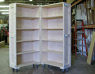Charmant Bookcase Furniture Crate Partially Open