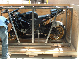 how to build a shipping crate for a motorcycle