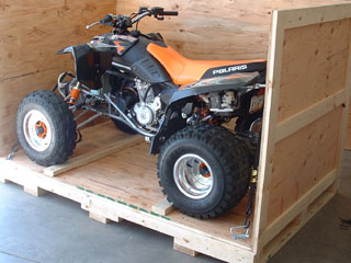 Motorcycle and ATV crating and shipping