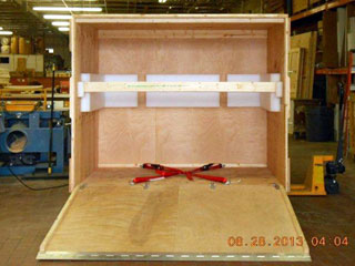 Custom Wooden Shipping Crate with ramp.