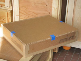 Foam lined Honeycomb Shipping Box