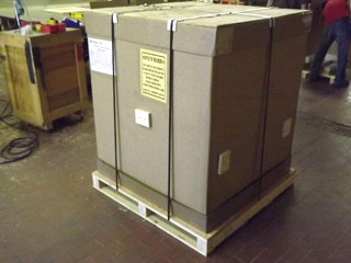 Gaylord Box on pallet ready for shipping