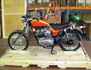 Motorcycle Crating Step 1