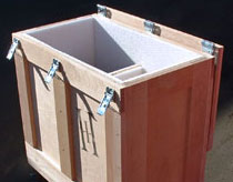 crate with foam sheet