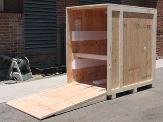 Shipping Crates With Ramp Custom Wooden Ramp Crate