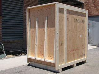 custom wooden shipping crate with ramp - Wooden Shipping Crates