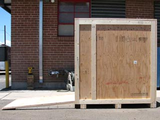 Custom Wooden Shipping Crate with ramp