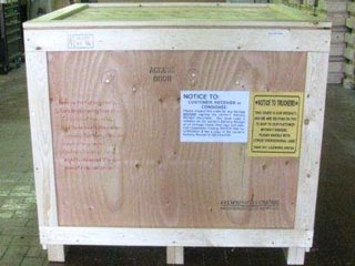 US Army band instruments reusable shipping crates