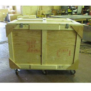Used trade show crate exterior back
