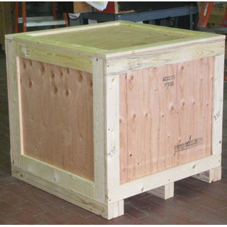 Surplus over run crate exterior view