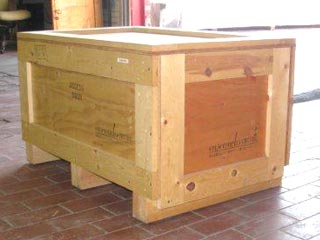 Suplus crates for sale, individual front view