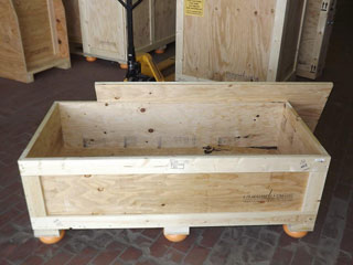 Surplus shipping crate for sale interior