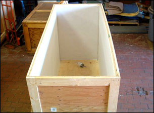 Storage Crate with foam lining