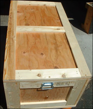 Wooden Storage Crate with handles