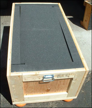 Wooden Storage Crate thick foam lined