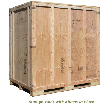 Storage vault with Klimps