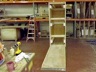 E-Rack Ramp Crate interior with ramp down