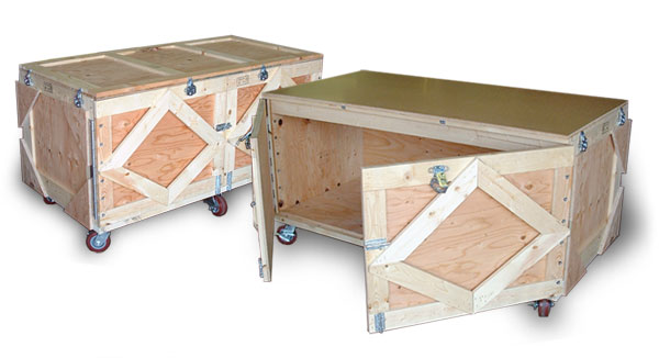 Table Top Trade Show Crate With Doors