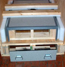 Wooden Tradeshow Crate with platform