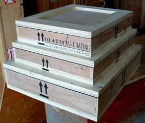 Custom Wood Crates for Shipping museum fine art