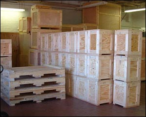 Custom Wood Crates Production manufacturing